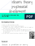 social development- focusing on eriksons theory of psychosocial development