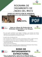 Programa de Reforzamiento de Viviendas Del Mvcs