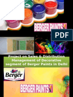 Berger Paints Sales & Distribution in Delhi