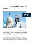 u3l12a9 - aclu - end mass surveillance under the patriot act