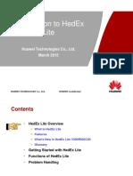 HedEx Lite V200R002 Training Material