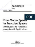 From Vector spaces to function spces