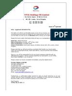 Scam offer letter