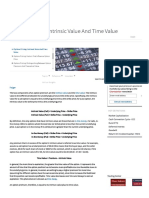 Option Pricing-Intrinsic Value