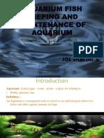 ESS 121 Aquarium Keeping Joe Shalini