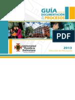 Guia Para La Documentacion de Los Procesos 2013