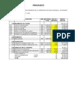 Calendario y Adquisicion Matyeriales