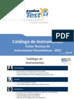 Catalogo de Instrumentos Psicometricos 2015