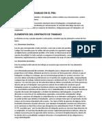 Contratos de Trabajo en El Peru