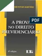 A Prova No Direito Previdenciário - Wladimir Novaes Martinez - 2015