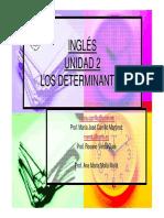 Unidad 2 Los Determinantes