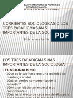Corrientes Sociologicas o Los Tres Paradigmas Mas Importantes Bueno