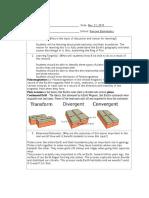 lesson plan template-plate tectonics