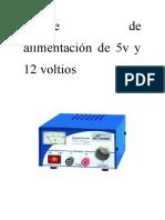 elaboración de fuente de alimentación de 5 y 12 voltios