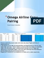 Omega Airline Crew Pairing