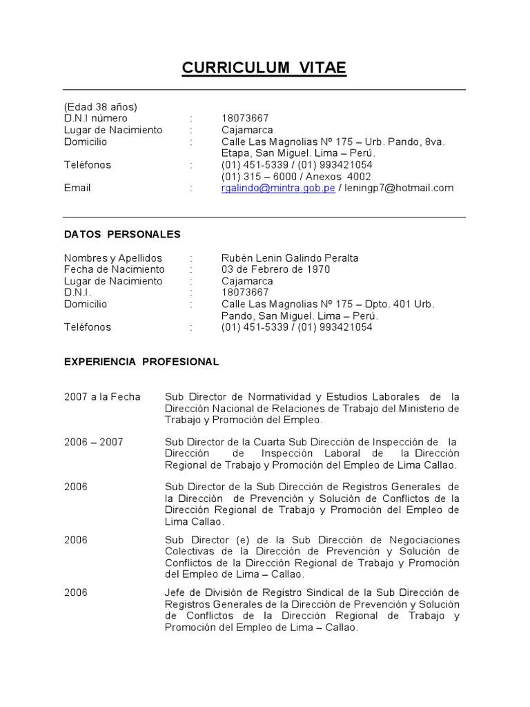 Moderno Curriculum Vitae Para Trabajos Generales Regalo - Colección ...