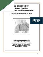 EL BANDONEON Estudio Teoretico Daluisio 2015 SINOPSIS de Clase