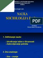 1.Predavanje (Sociologija Rada - Nauka)