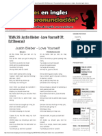 TEMA 26_ Justin Bieber - Love Yourself (Ft