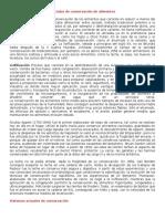 METODOS DE CONSERVACION ALIMENTOS
