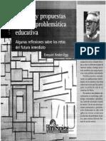 ANDER EGG Debates y Propuestas Sobre La Problemática Educativa