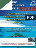 Actualización Tributaria 2016_Tema 1_Clasificación de Las Personas Naturales