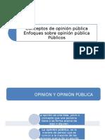 Conceptos de Opinión Pública