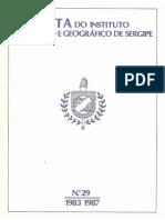 SOUTELO, Luíz Fernando Ribeiro. O Comício Agrícola Do Sul de Sergipe. MOTT, Luiz R. B. O Escravo Nos Anúncios de Jornal de Sergipe.