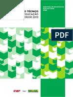 Resumo Tecnico Censo Educacao Superior 2013