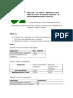 cloruro de hexamino cobalto(III) y cloruro de pentaminoclorocobalto (III)