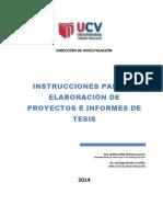 Instrucciones Para Elaborar Proyecto y Tesis Ucv