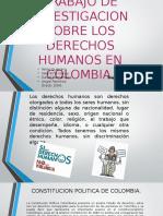Trabajo de Investigación DH en Colombia.