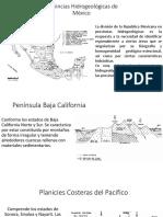 Provincias Hidrogeológicas de México