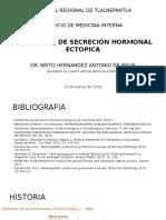 Sindrome de Secresión Ectopica Hormonal