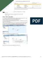 Demo on Real Time Job and Configuration i1n Data..