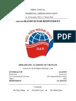 DAV - Memorandum for Respondent