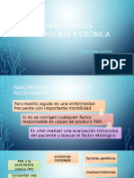Pancreatitis Recurrente y Cronica