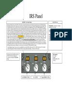 IRU Panel - Cheat Sheet