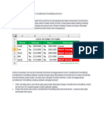 Cara Menandai Cell Dengan Conditional Formatting Di Excel