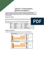 Formulas Quimicas y Nomenclatura Inorganica