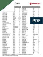 Target Generics Program Drug List