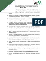 Programa de Acción Del Frente Estudiantil Mexicano (4)
