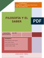 La Filosfia y El Saber