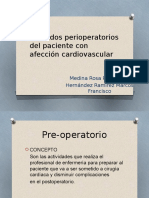 Cuidados Perioperatorios Del Paciente Con Afección Cardiovascular