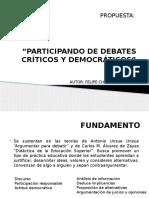 Participando de Debates Críticos y Democráticos