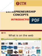 Entrepreneurship Concepts - Introduction