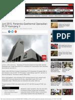 Juni 2015, Pertamina Geothermal Operasikan PLTP Kamojang V