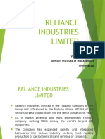1 Reliance Assignment