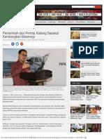 Indonesia - Pemerintah Dan Pemda Kalteng Sepakat Kembangkan Bioenergi