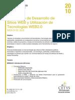 Diplomado en Desarrollo de Paginas WEB 24 Julio 2010 CETYS MXL
